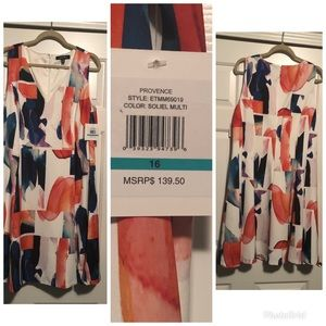 Ellen Tracy Multicolored Dress size 16 new